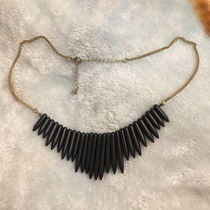 Jewelry - Black gem stone statement necklace